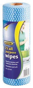 All purpose wipes ADDIS roll (25x)