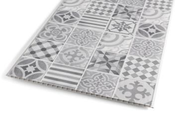 Wall Panel PVC Cement Tile Cement Tile 375x2600mm-Pack of 3.9m2