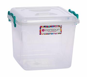 8.5l clear clip & lock storage box
