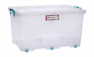50l clear clip & lock storage box