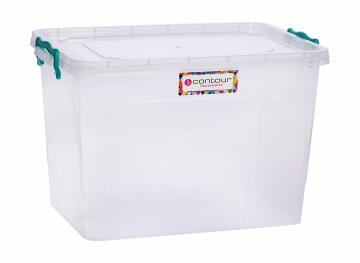 21l clear clip & lock storage box