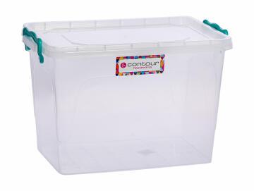 13l clear clip & lock storage box