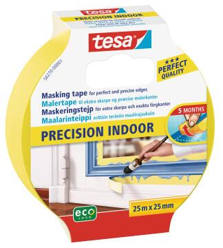 Masking Tape Precision Indoor TESA yellow 25m x 25mm