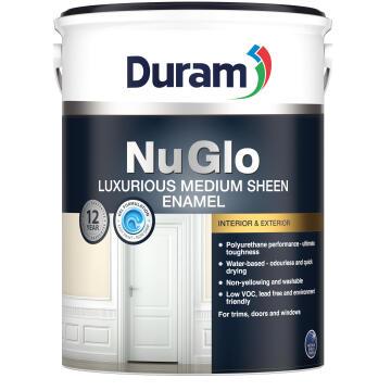 Enamel Paint Interior/Exterior Mid-Sheen DURAM NuGlo White 5l