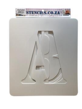 Stencil Alphabet K&K 200 mm Set