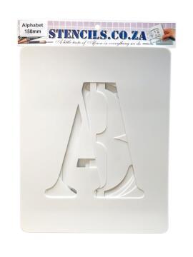 Stencil Alphabet K&K 150 mm Set