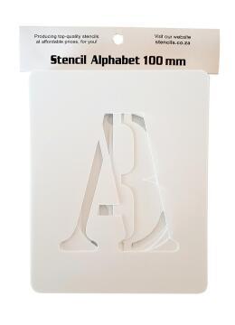 Stencil Alphabet K&K 100 mm Set