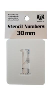 Stencil Numbers K&K 30 mm (0-9)
