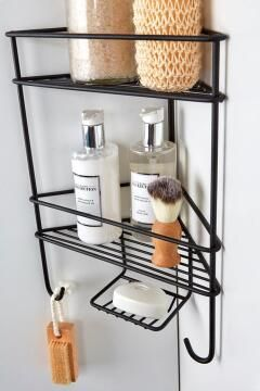 CORNER SHOWER ORGANISER BLACK