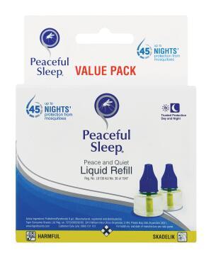 Mosquito repellent PEACEFUL SLEEP twin liquid refill 2x35ml