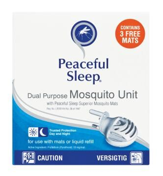 Mosquito repellent PEACEFUL SLEEP plug-in unit with 3 free mats