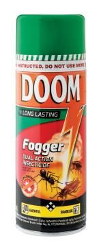 Insect killer DOOM dual action fogger new 350ml
