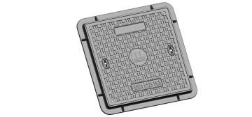 Manhole Cover Rectangular lockable with seal H100