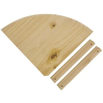 natural pine corner shelf 200x200mm with brackets & screws