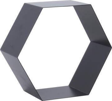 dsx hexagon shelf metal black