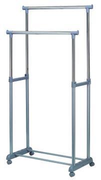 Garment rail extendable two tier 86x97/176x44cm