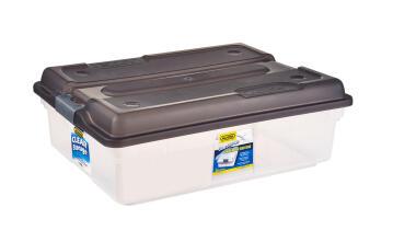 26L Clear Storage Box Smokey Addis