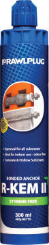 Chemical anchor polyester styrene free resin all substrates 300ml rawlplug