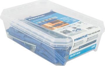 4ALL long nylon plugs and screws universal tub 100pc rawlplug