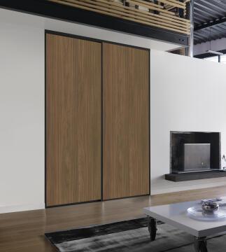 2 Sliding doors kit walnut 250X120cm