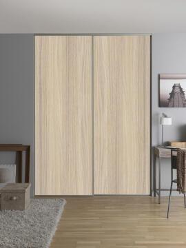 2 Sliding doors kit olive 250X120cm