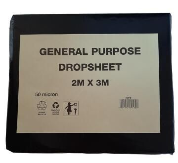 Drop Sheet plastic K&K 2X3 50 micron Gp
