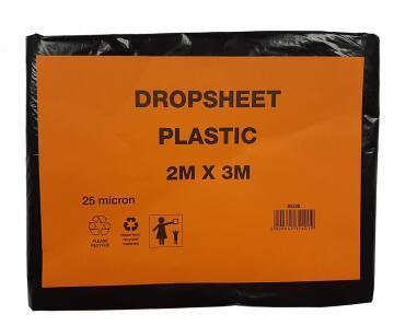 Drop Sheet plastic K&K 2X3 25 micron low duty