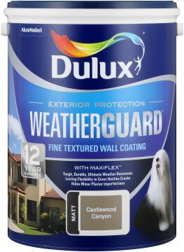 Paint exterior fine textured DULUX WEATHERGUARD Castlewood Canyon 5L,