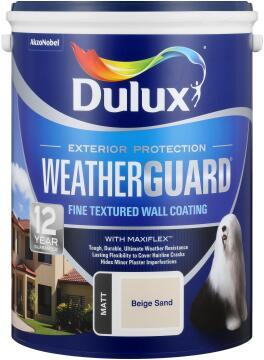 Paint exterior fine textured DULUX WEATHERGUARD Beige Sand 5L,