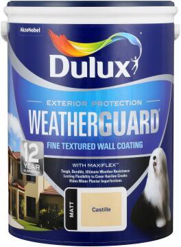 Paint exterior fine textured DULUX WEATHERGUARD Castille 5L,