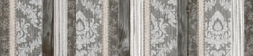 Listello Ceramic Tile Misty Grey 4.5x20cm