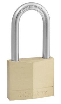 Padlock long shackle brass 40mm master lock