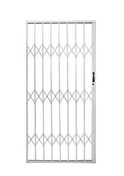 Aluminium trellis gate 1000x2100mm white armourdoor