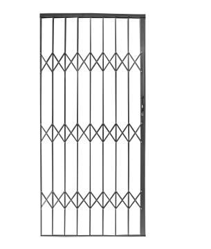 Aluminium trellis gate 1000x2100mm charcoal armourdoor
