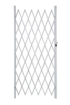 Aluminium flex gate 1000x2000mm white armourdoor