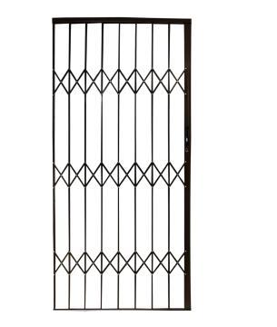 Aluminium trellis gate 1000x2100mm bronze armourdoor
