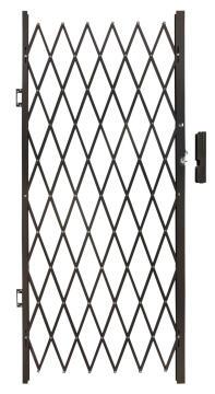 Aluminium flex gate 1000x2000mm bronze armourdoor