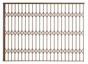 Alu-glide security gate type 30 3000(w)x1950-2150(h) bronze xpanda