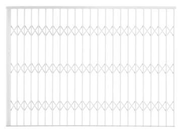 Alu-glide security gate type 30 3000(w)x1950-2150(h) white xpanda