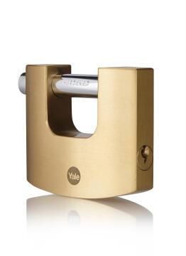 Shutter padlock solid brass body 80mm yale