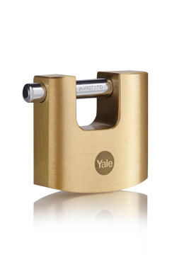 Shutter padlock solid brass body 70mm yale