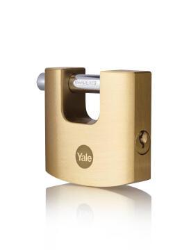 Shutter padlock solid brass body 50mm yale