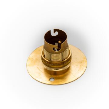 LAMPHOLDER BRASS BATTEN 50MM BC P/P