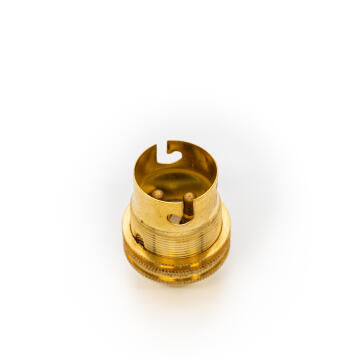 LAMPHOLDER BRASS 10MM BC P/P