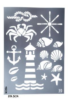 Stencils GRANNY B'S nautical