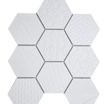 MOSAIC WHITE DUST 335X280X6MM