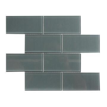Mosaic Glass Tile Metro Gunmetal 300x300mm