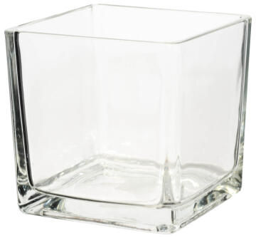 CUBE GLASS CLEAR 10X10X10CM