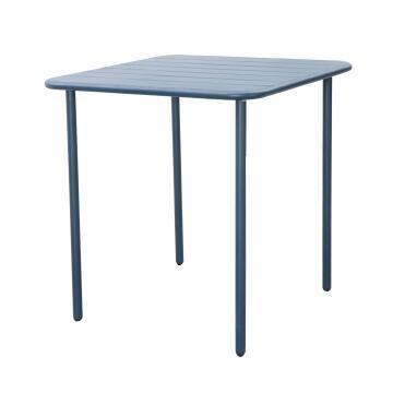 Dining table cafe neptune blue steel 70cm x 70cm