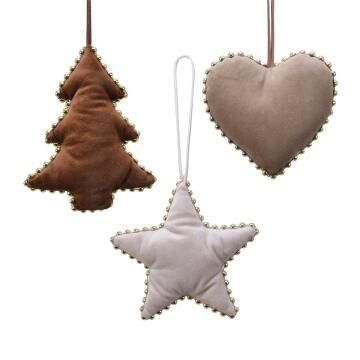 3PC XMAS DECORATION VELVET